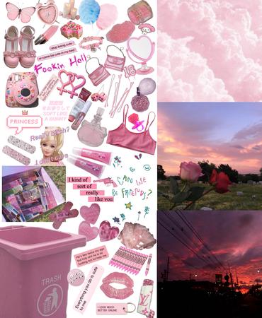 pink moon board 💗🌷💅🏼✨
