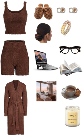 school work at home cozy outfit