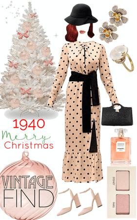 1940's Holiday Dress