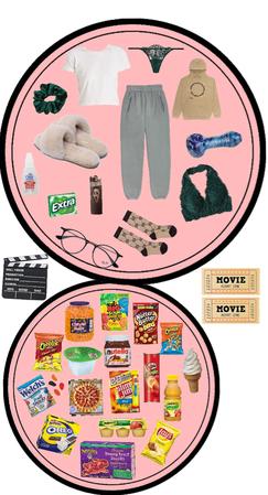 movie night with bae + munchies