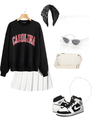 trendy school girl outfit