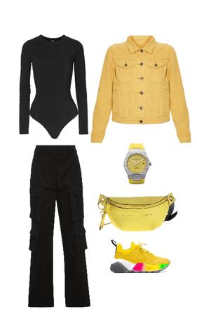 Outfit pantalón cargo negro