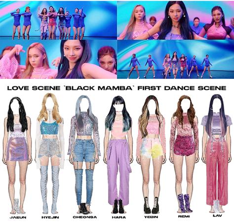 LOVE SCENE | THE 2ND DIGITAL SINGLE 'BLACK MAMBA' OFFICIAL MV | FIRST DANCE SCENE