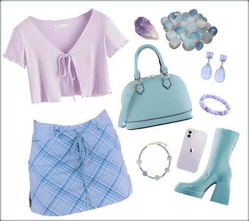 Aqua & Blue & Purple
