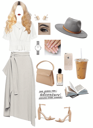 nude and gray