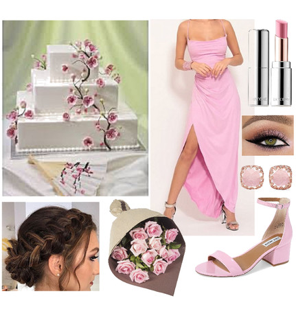 pink bridesmaid