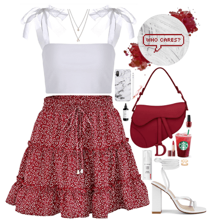 White and red girly mood