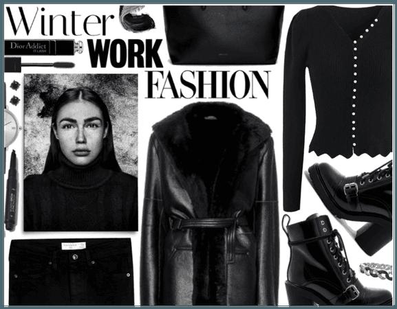 Winter Work Fashion: Monochrome Black