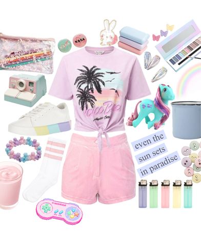 pastel 80's inspired
