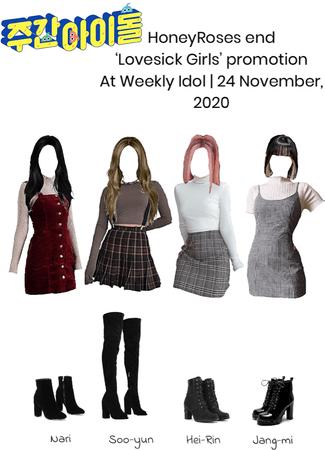 HoneyRoses end 'Lovesick Girls' promotion   November 24, 2020