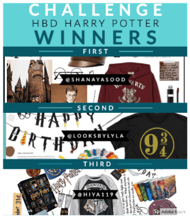 HBD Harry Potter Winners