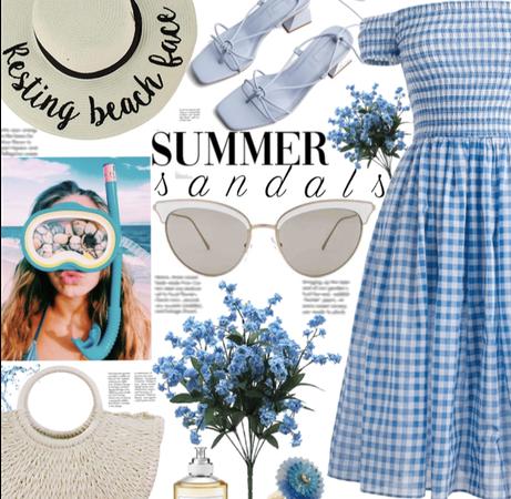Beach summer sandals 🌊🏝