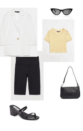 white blazer outfit #2