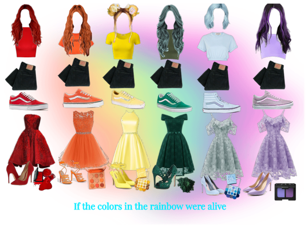 Rainbow outfits