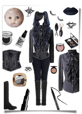 Cracked porcelain doll costume idea #1