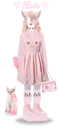 Pinky Cat Outfit