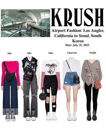 KRUSH Airport Fashion: Los Angles to Seoul, South Korea