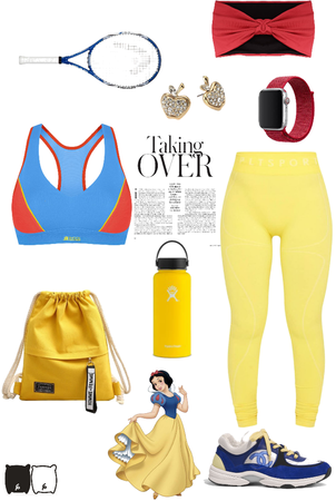 Disney Snow White Inspired Workout Outfit