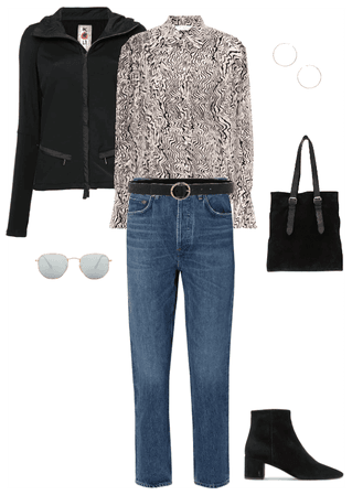 How to wear animal print blouse