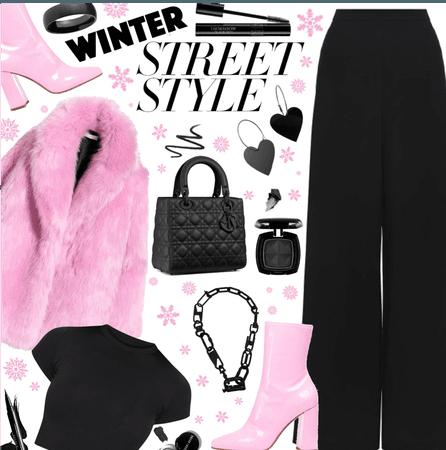 Winter Street style 🖤💖