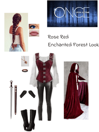 Once Upon a Time: Rose Red Enchanted Forest Look