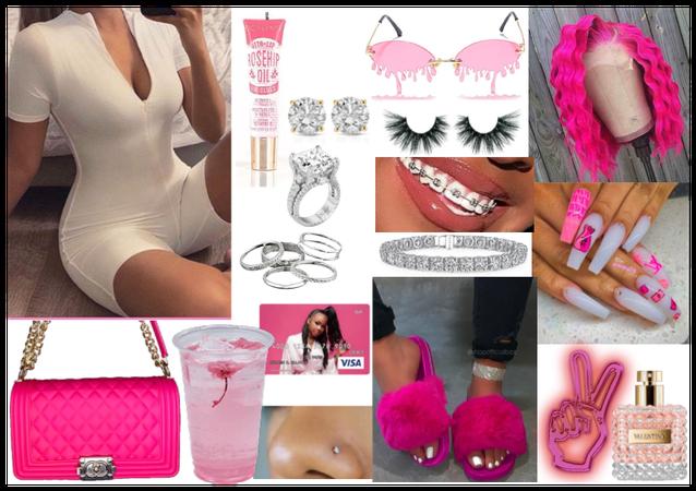 Pink baddie outfit💕🥰