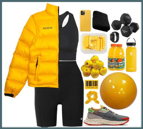 Sporty Look. Yellow+Black