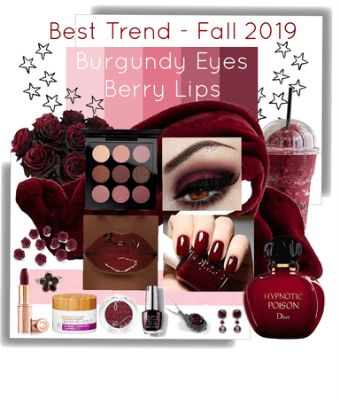 Best Trend 2019 - Burgundy Eyes, Berry Lips