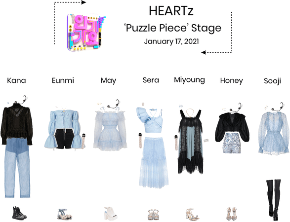 HEARTz//'Puzzle Piece' Inkigayo Stage