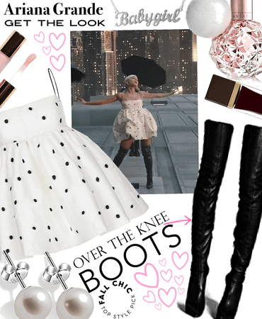Ariana grande style knee high boots