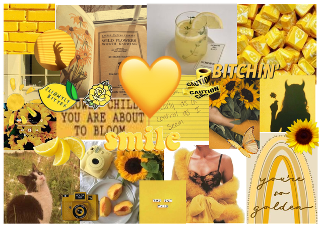 💛Yellow Mood Board💛