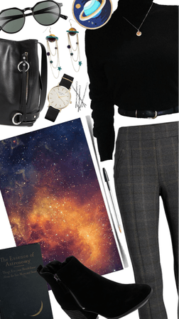 Space inspired outfit