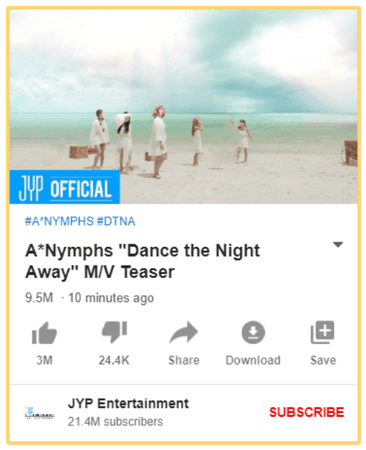"A*Nymphs ""Dance the Night Away"" M/V Teaser"