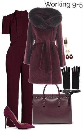 winter work wear plum style