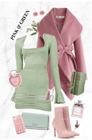 Playful Pink and Green