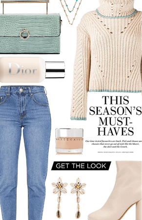 mom jeans + sweater trend
