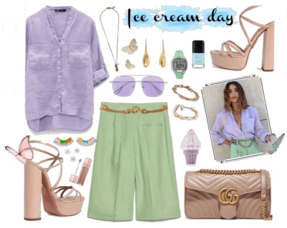 IceCream Day: Pastel colors