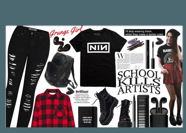 school- grunge
