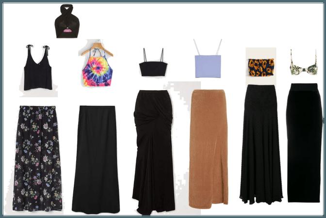 Maxi skirts basic colors