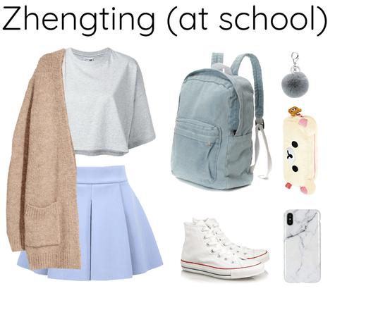 Zhengting (Nine percent) at school