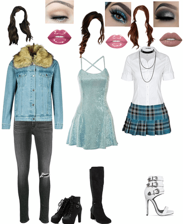 3-in-1 high school Aquarius outfits