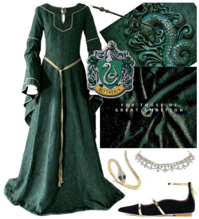 Slytherin - green & silver & pure blood