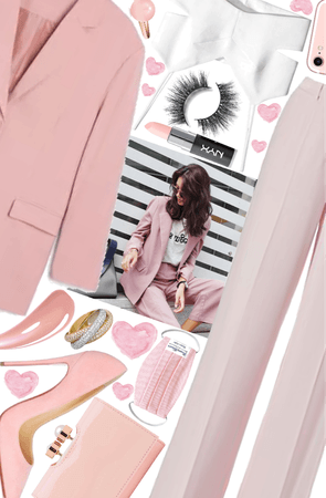 winter work wear!!/pink