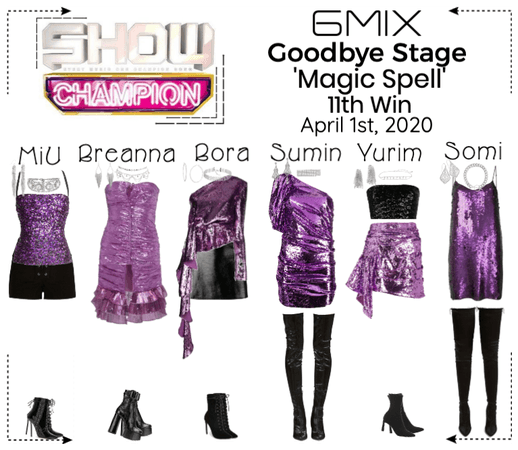 《6mix》Show Champion Goodbye Stage 'Magic Spell'