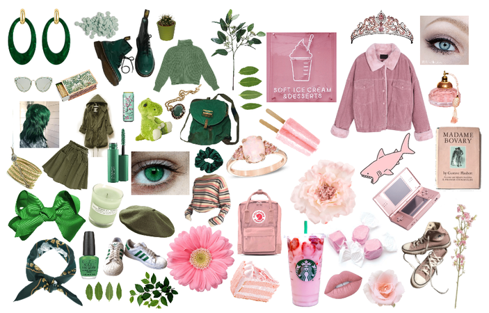 Green and Pink :D