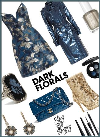 Dark Metallic Florals