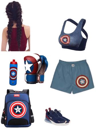 captain America boxer
