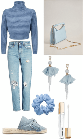 blue themed outfit🧊
