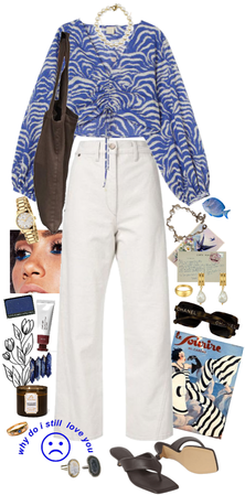 blue summer swag