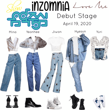 INZOMNIA 'Love Me' Debut Live Stage on Music Core Outfits 04.20